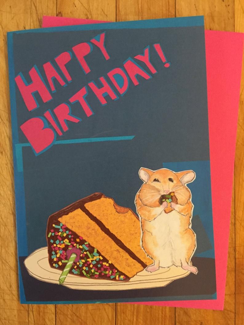 Hamster Birthday Card image 0