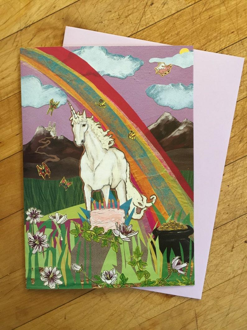 Unicorn Birthday Card image 1