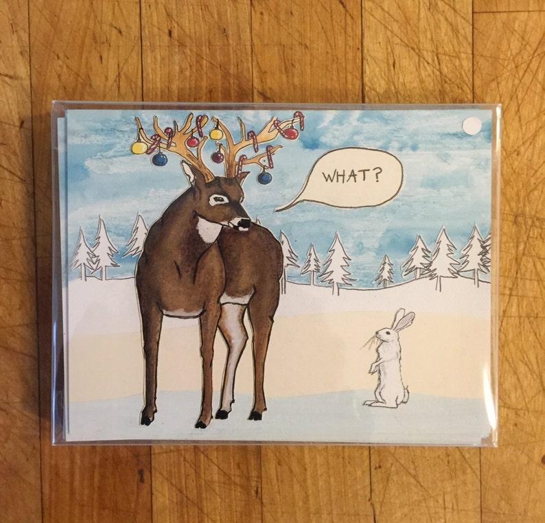 Festive Reindeer Holiday Card image 1