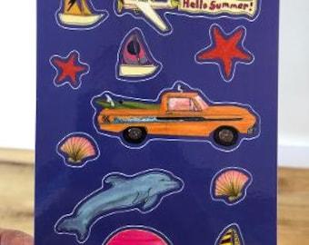 Summertime Sticker Sheet