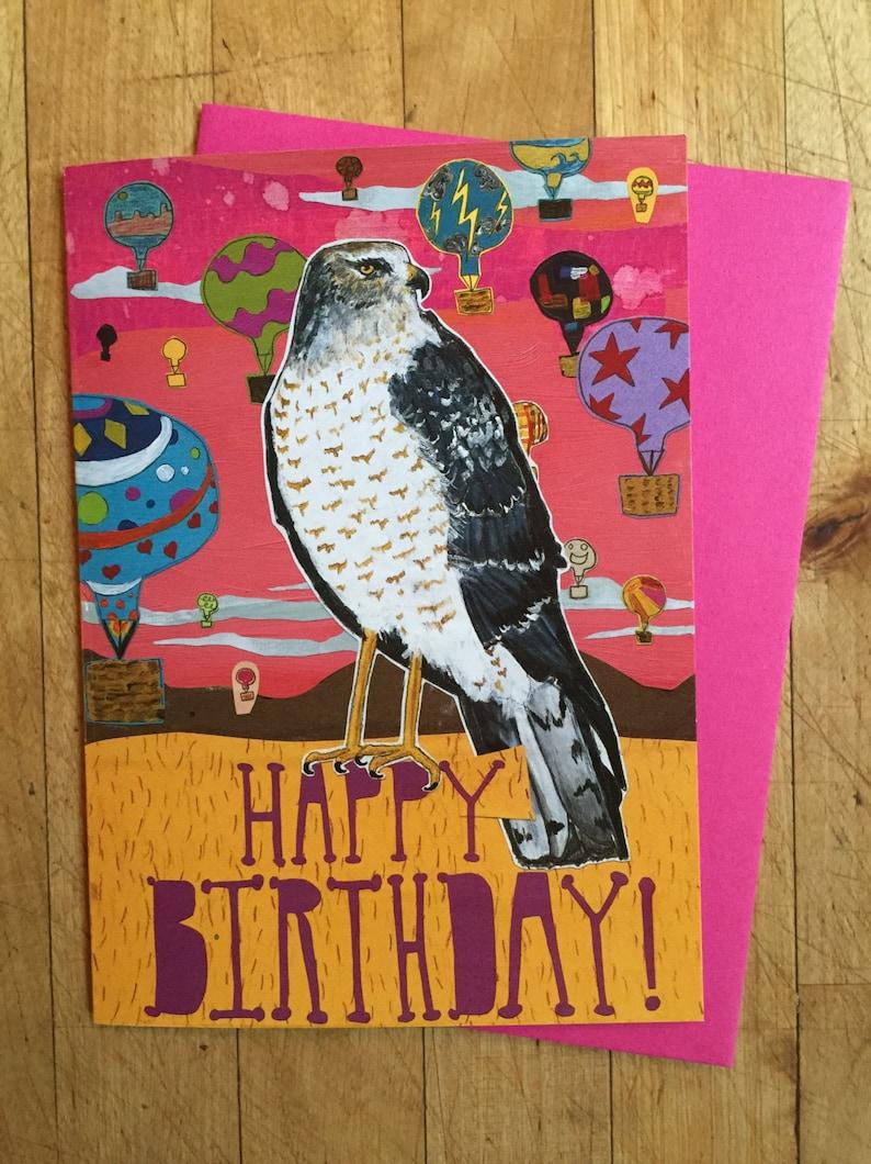 Birthday Hawk Card image 0