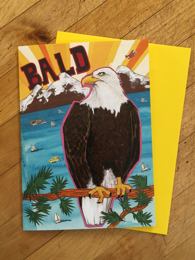Bald and Majestic Birthday Card image 1