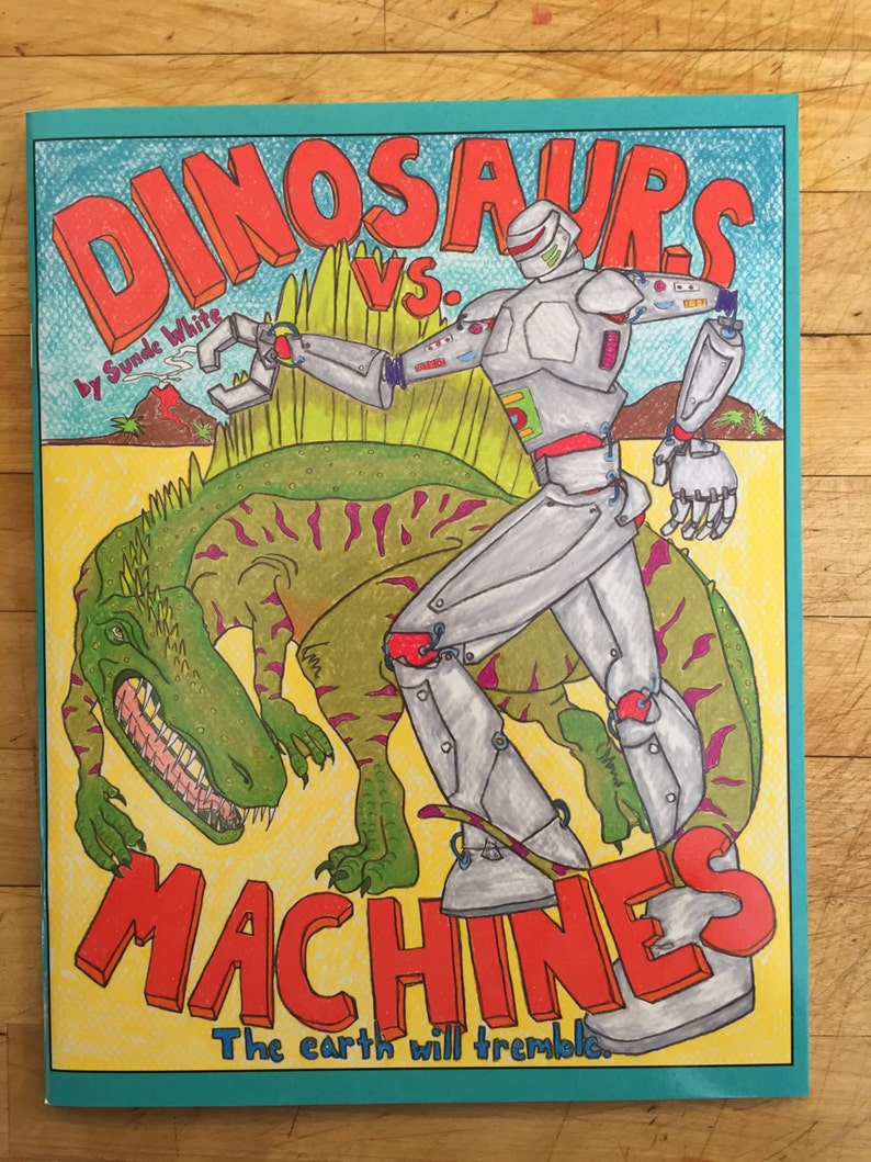 Coloring Book: Dinosaurs vs. Machines The earth will tremble image 0