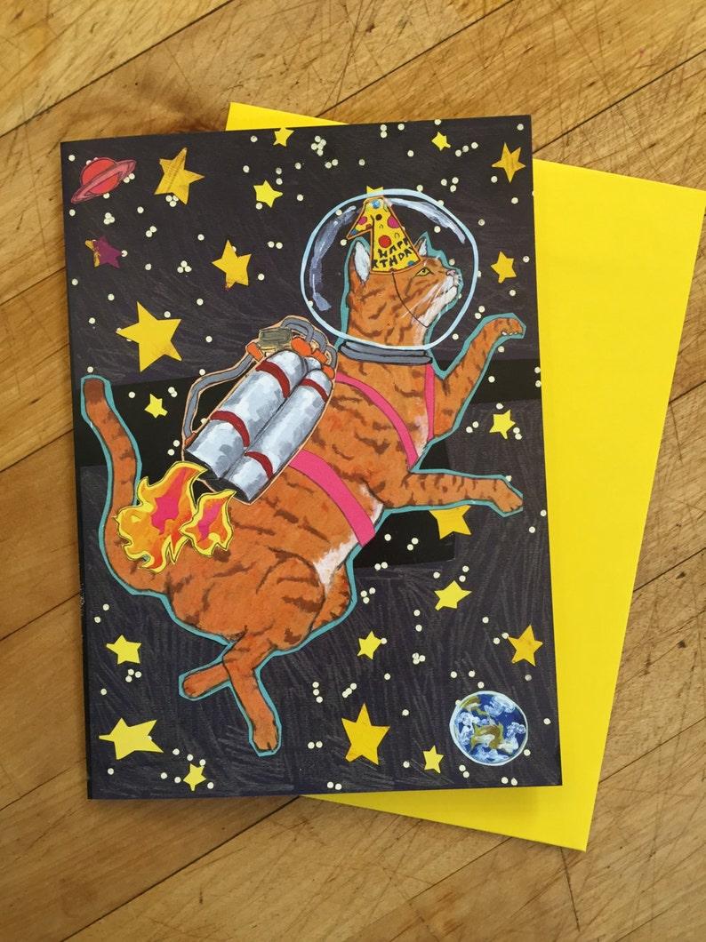 Astro Cat Birthday Card image 0