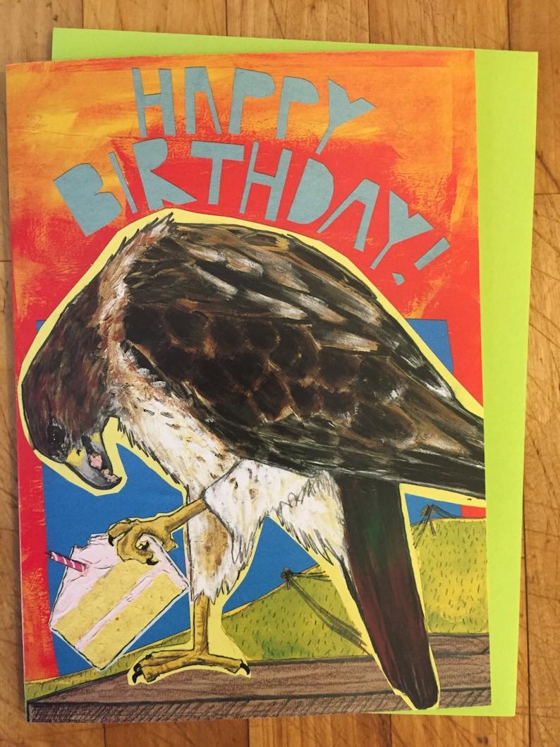 Red Tail Hawk Birthday Card image 0