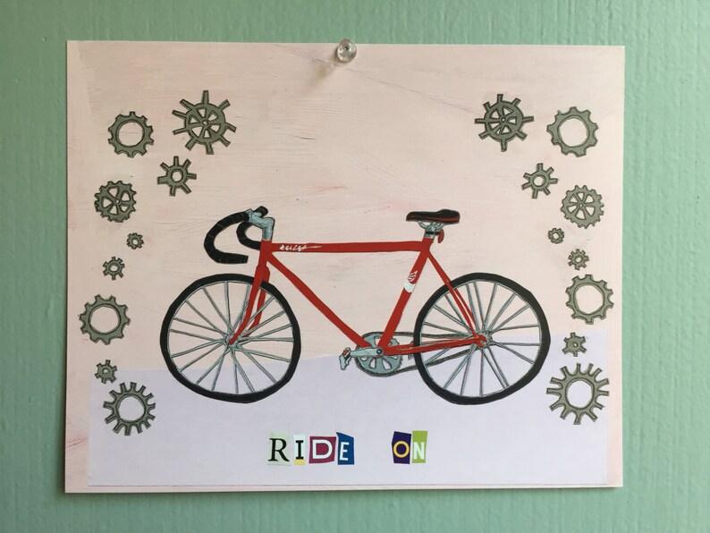 Bicycle Art Print Ride On image 0