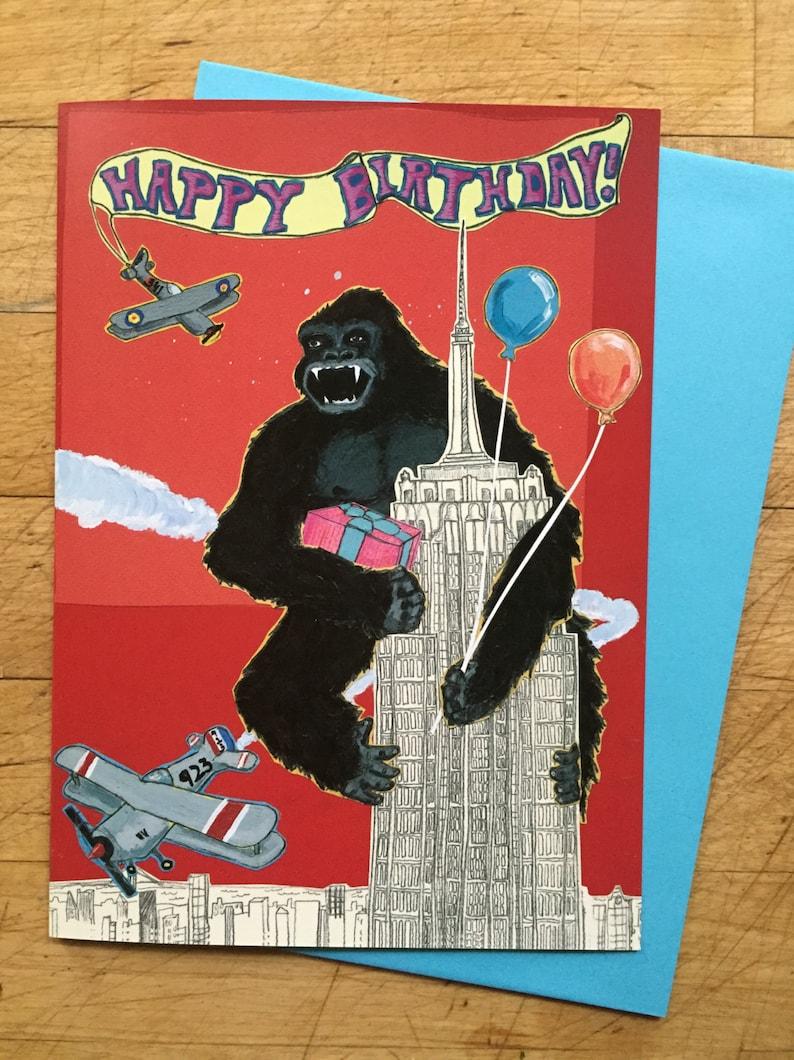 King Kong Birthday Card image 1