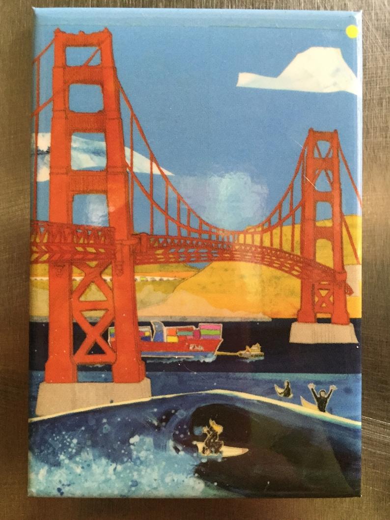 Golden Gate Bridge Refrigerator Magnet image 1