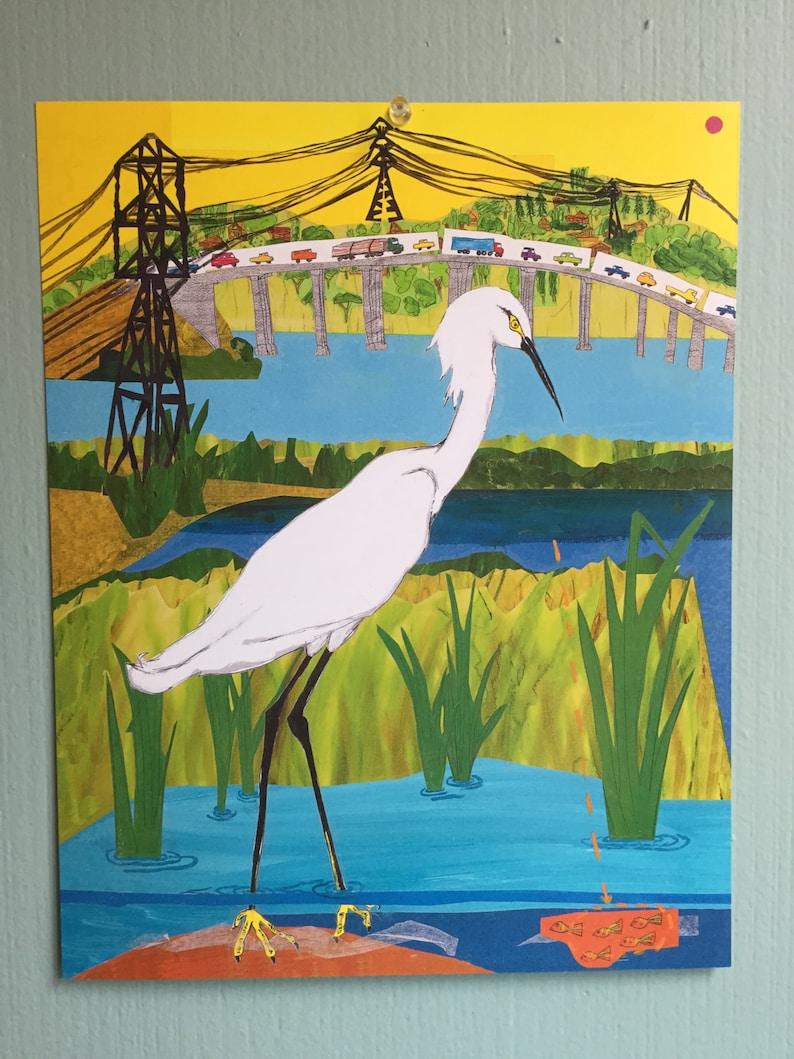Egret Art Print image 1