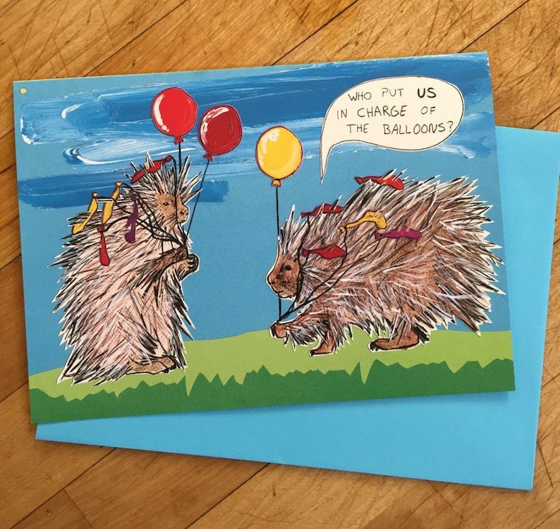 Porcupine Birthday Card image 0