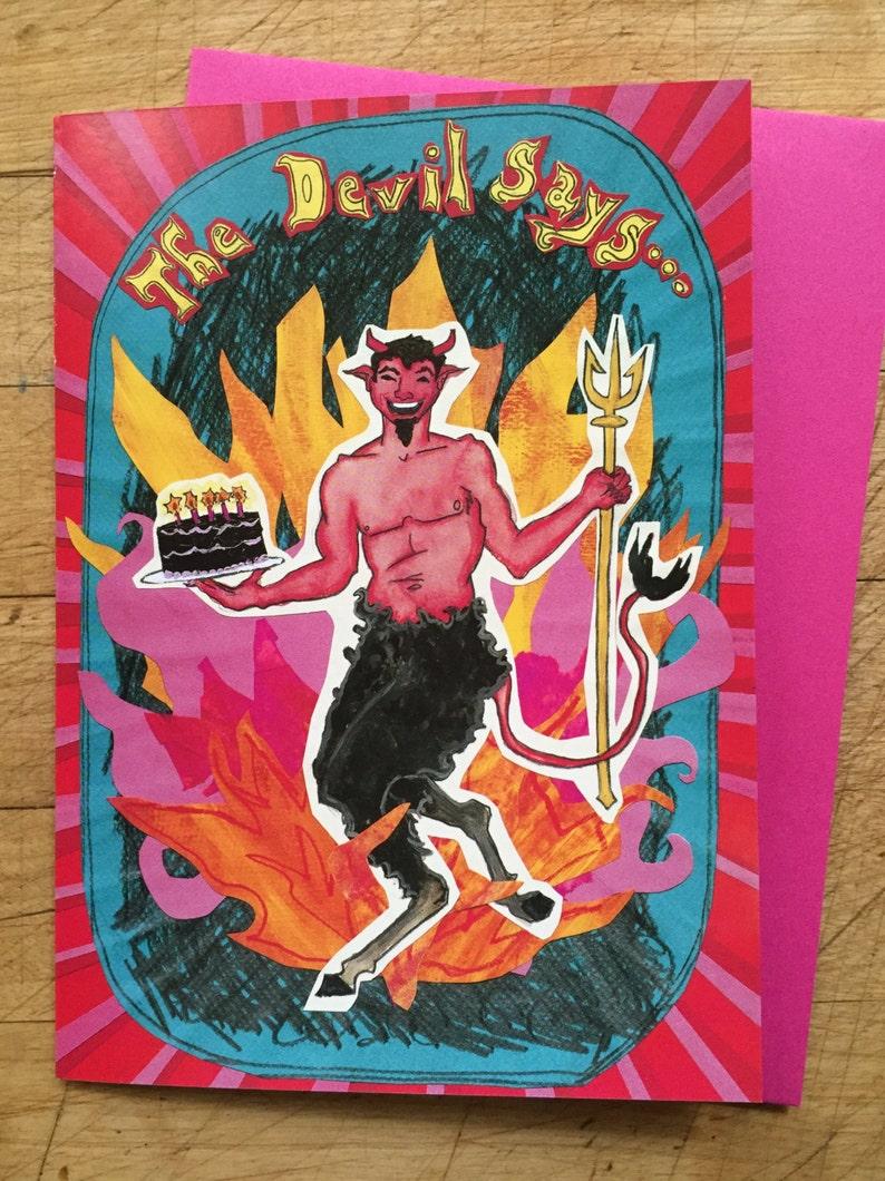 Devil Birthday Card image 0