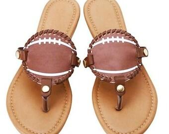 6f7a6ea5347904 Monogrammed Football Sandals