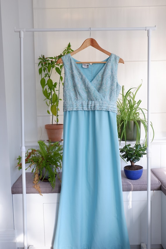 Vintage blue ball gown
