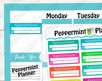 Appointment Planner stickers --- 370