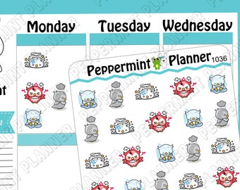 Bad Day Owl --- Planner Stickers --- 1036