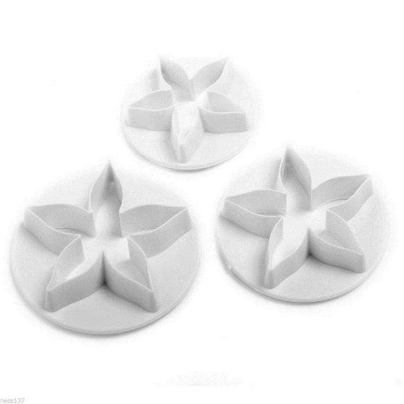 """3 Moules Decoupoirs Multi Forme """"Fleur"""" Patisserie Gateau Fondant Cake Sablé"""
