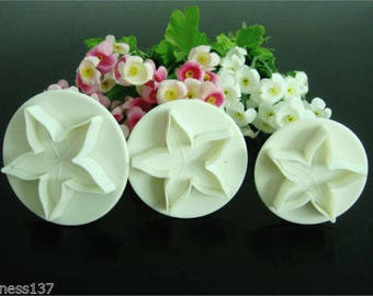 3 away Pieces sold by Fleur de lis embossed clay has sugar almond paste