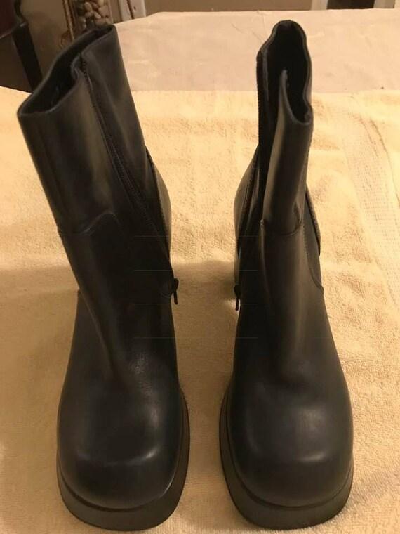 Black Leather Boots, Steampunk, Boho, Hippie, Goth