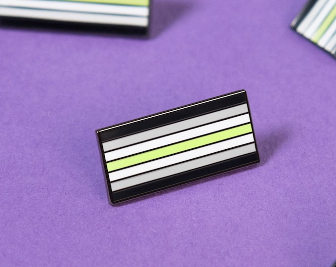 The Agender Flag Enamel Pin