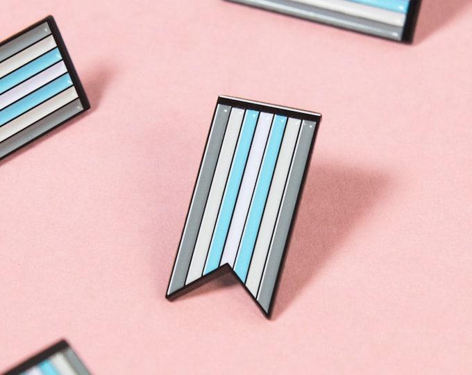 The Demiboy Ribbon Enamel Pin