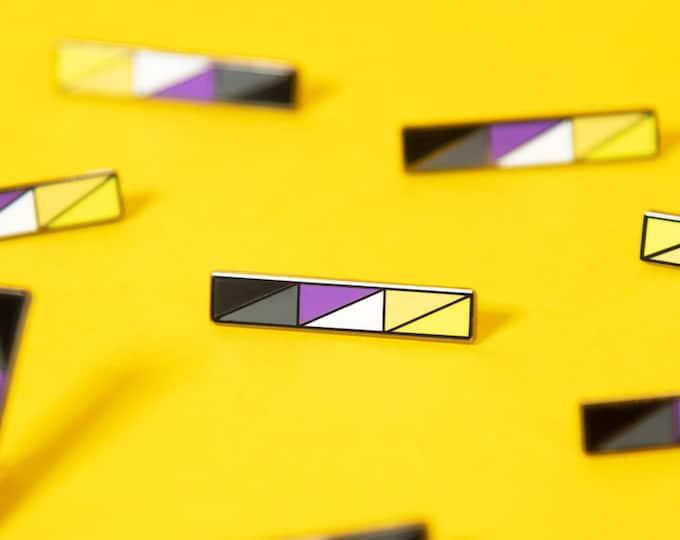 The Non-Binary Bar Enamel Pin