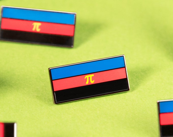 The Polyamory Flag Enamel Pin