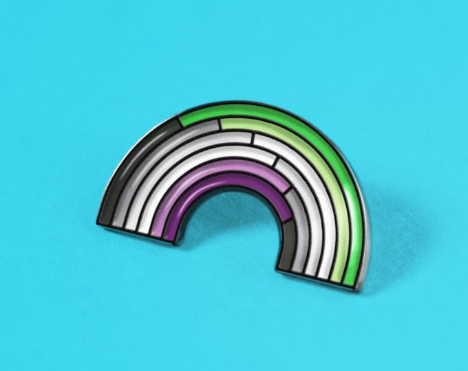 The Aroace Rainbow Enamel Pin