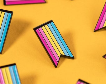 The Pansexual Ribbon Enamel Pin