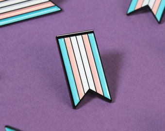 The Transgender Ribbon Enamel Pin