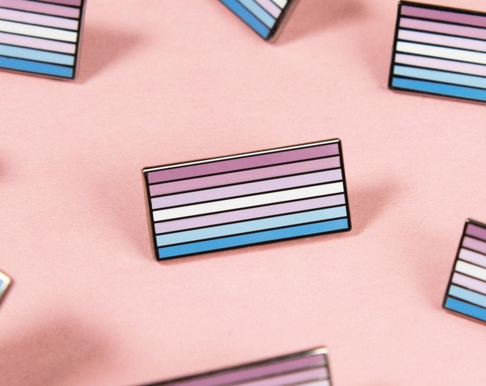 The Bigender Flag Enamel Pin
