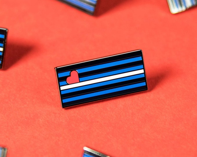 The Leather Pride Flag Enamel Pin