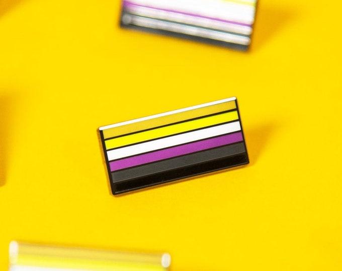 The Non-Binary Flag Enamel Pin