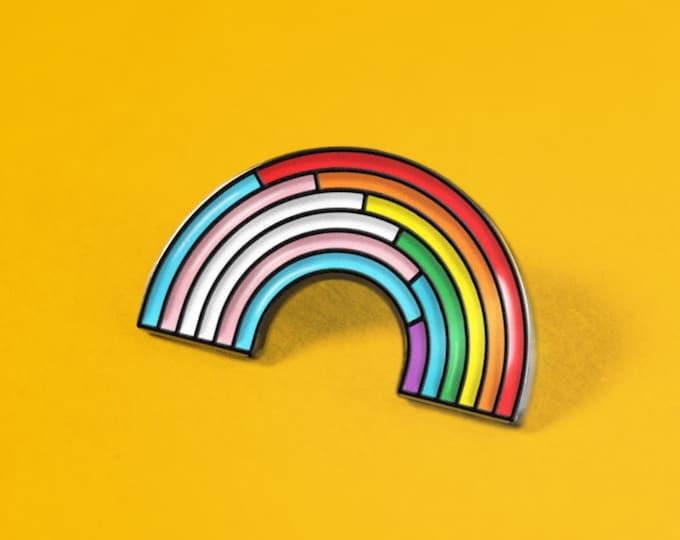 The Trans/Rainbow Enamel Pin