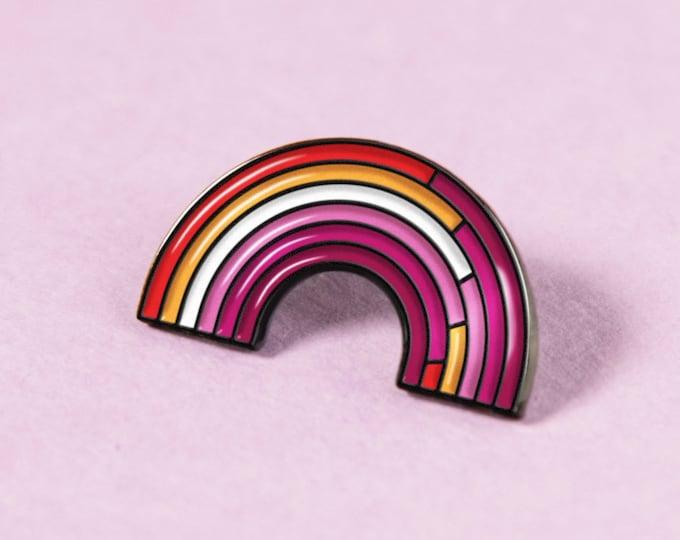 The Community Lesbian Rainbow Enamel Pin