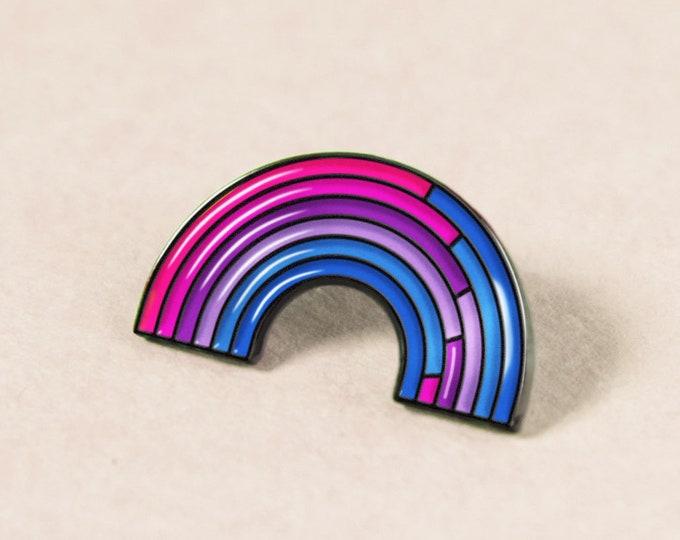The Bisexual Rainbow Enamel Pin