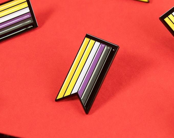 The Non-Binary Ribbon Enamel Pin