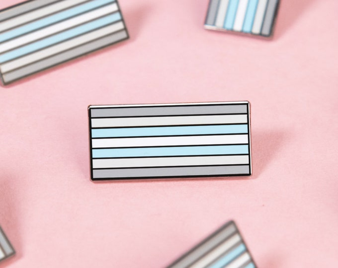 The Demiboy Flag Enamel Pin