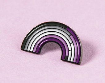 The Asexual Rainbow Enamel Pin