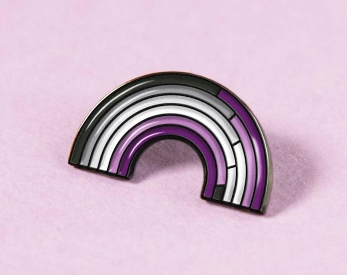 The Asexual Rainbow Enamel Pin