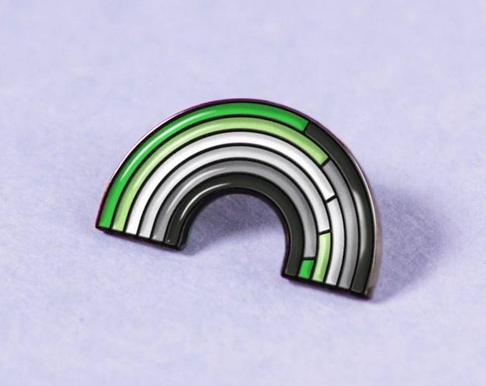 The Aromantic Rainbow Enamel Pin