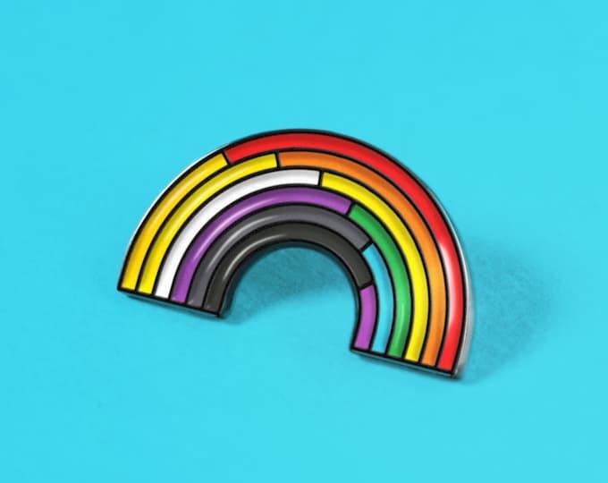 The Non-Binary/Rainbow Enamel Pin