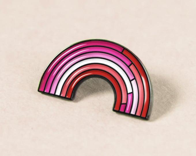 The Lesbian Rainbow Enamel Pin