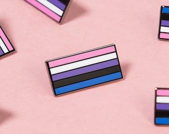 The Genderfluid Flag Enamel Pin