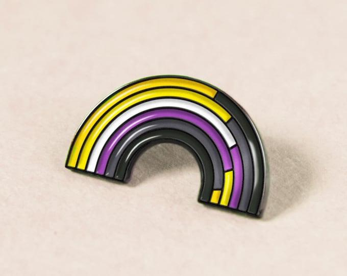 The Non-Binary Rainbow Enamel Pin
