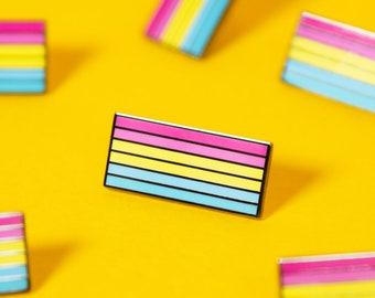 The Pansexual Flag Enamel Pin