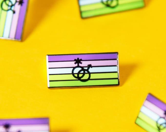 The Toric Flag Enamel Pin