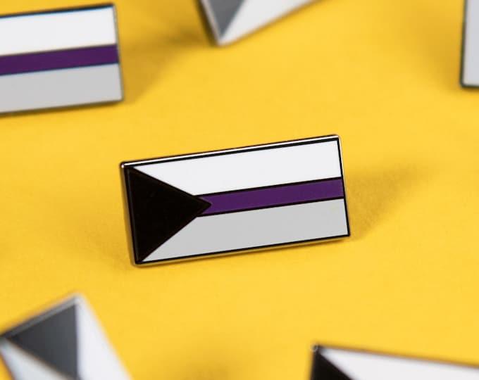 The Demisexual Flag Enamel Pin