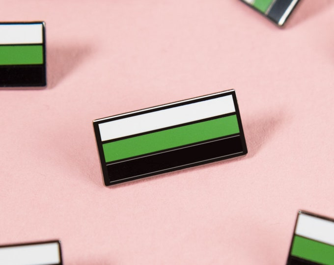 The Neutrois Flag Enamel Pin