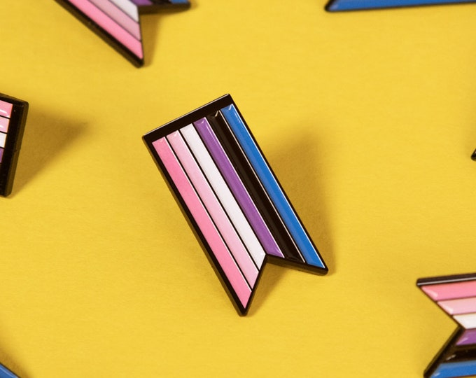 The Genderfluid Ribbon Enamel Pin