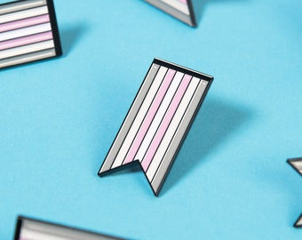 The Demigirl Ribbon Enamel Pin